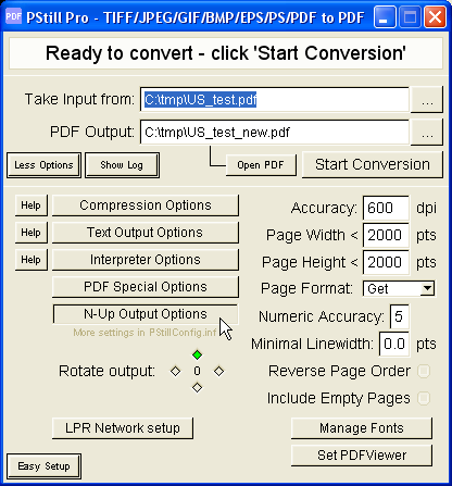 convert pdf to black and white legal