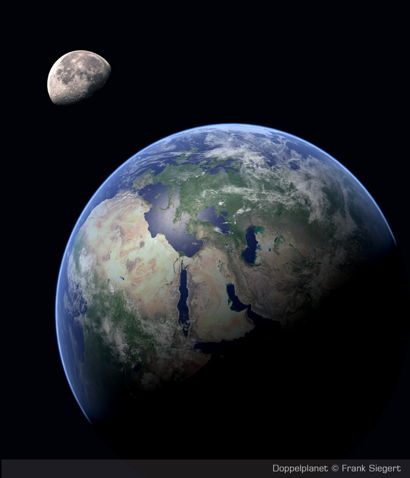 earth and moon together - photo #4