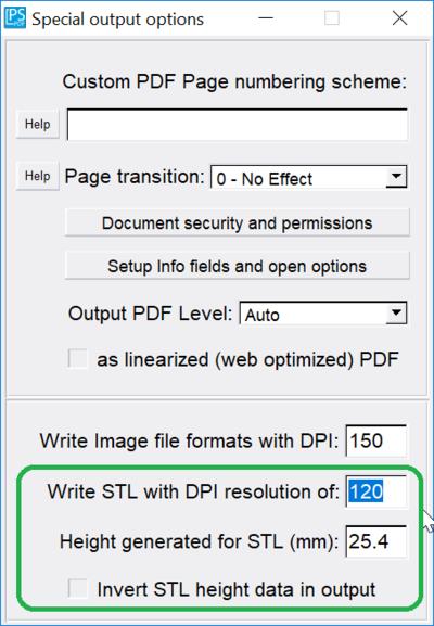 PStill Howto - Convert to STL (3D print format)